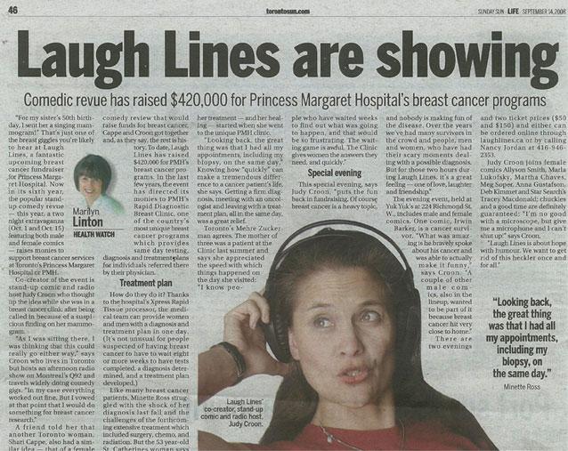 Click to read the Toronto Sun artilce
